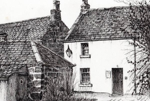 Great Britain Drawing - Jm Barrie's Birthplace by Vincent Alexander Booth