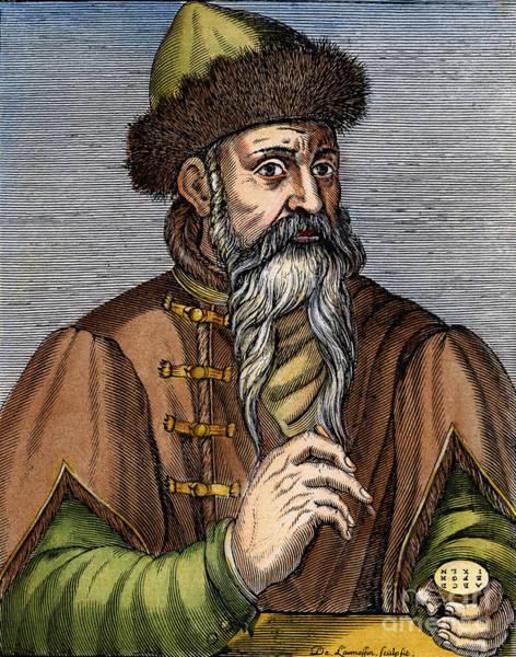 German Renaissance Drawing - Joahnn Gutenberg by Granger