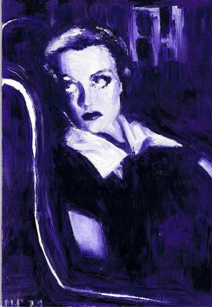 Nostalgia Drawing - Joan Crawford by Mel Thompson