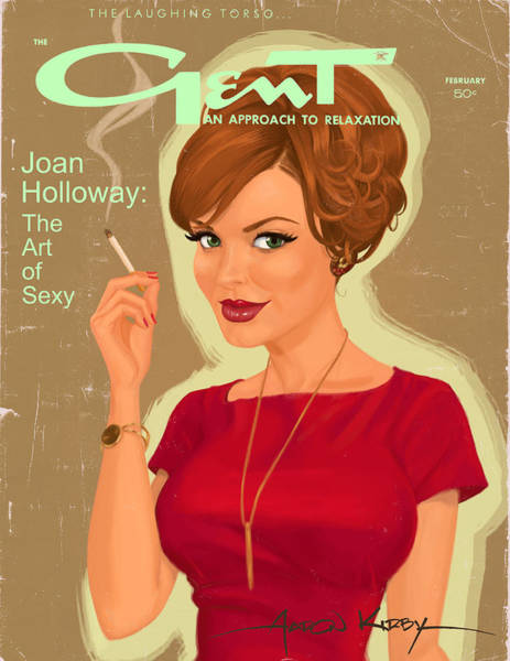 Magazine Cover Painting - Joan Holloway In Gent by Aaron Kirby