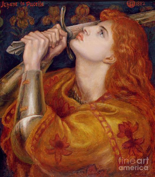 Pre-raphaelites Painting - Joan Of Arc by Dante Charles Gabriel Rossetti