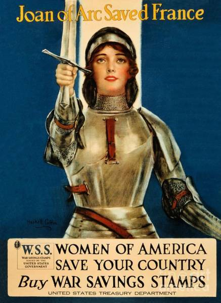 War Bonds Digital Art - Joan Of Arc Saved France by Heidi De Leeuw