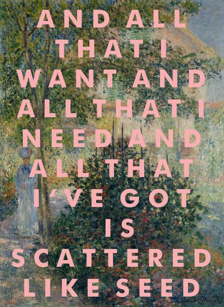 Harp Digital Art - Joanna Newsom Poster                                 by Georgia Fowler