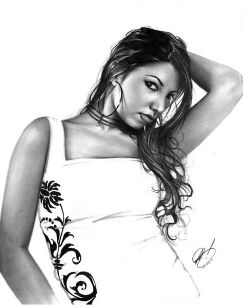 Babe Drawing - Joanna by Pete Tapang