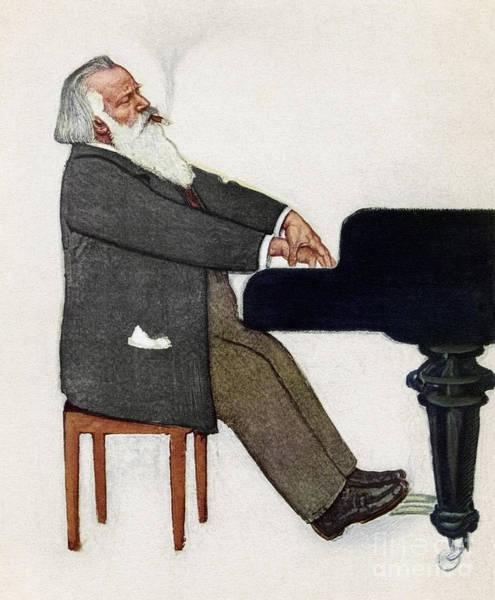 Painting - Johannes Brahms by Willy von Becherath