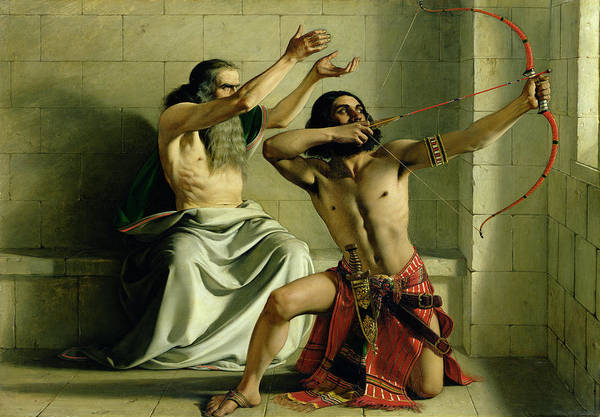 Archery Wall Art - Painting - Joash Shooting The Arrow Of Deliverance by William Dyce