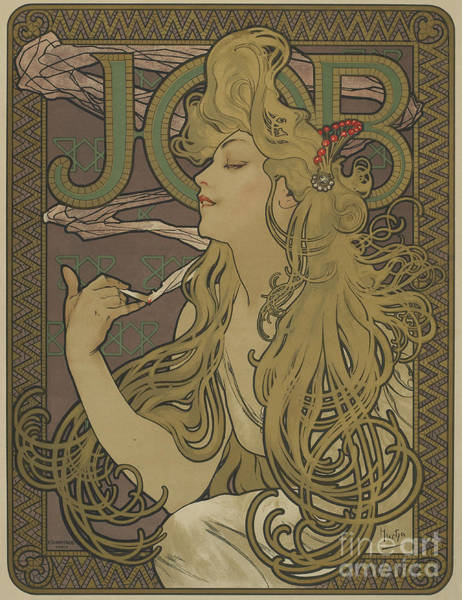 Wall Art - Painting - Job, 1896 by Alphonse Marie Mucha