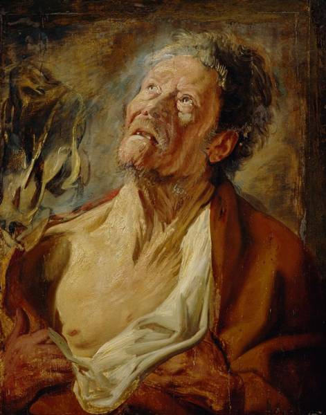 Elderly Wall Art - Painting - Job by Jacob Jordaens