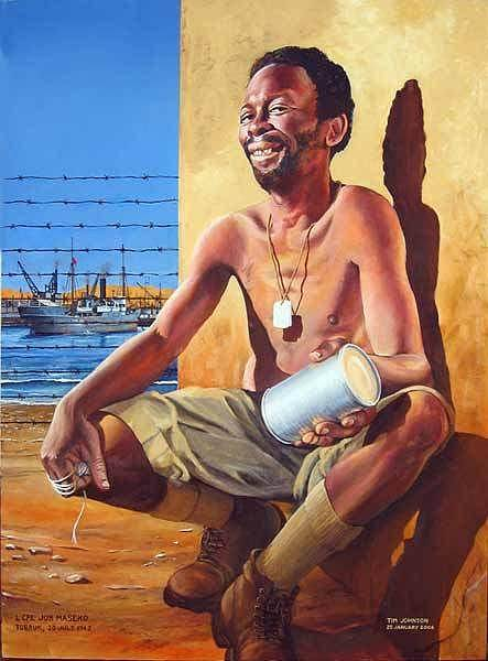 Painting - Job Masego by Tim Johnson