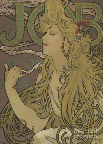 Wall Art - Painting - Job Vintage Poster by Alphonse Marie Mucha