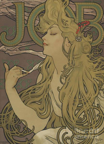 Alphonse Mucha Painting - Job Vintage Poster by Alphonse Marie Mucha