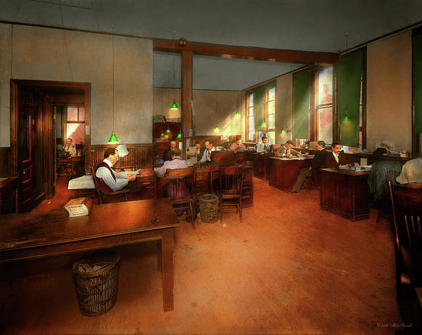 Photograph - Jobs Other - Office - Its News Worthy 1899 by Mike Savad