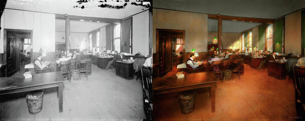 Photograph - Jobs Other - Office - Its News Worthy 1899 - Side By Side by Mike Savad
