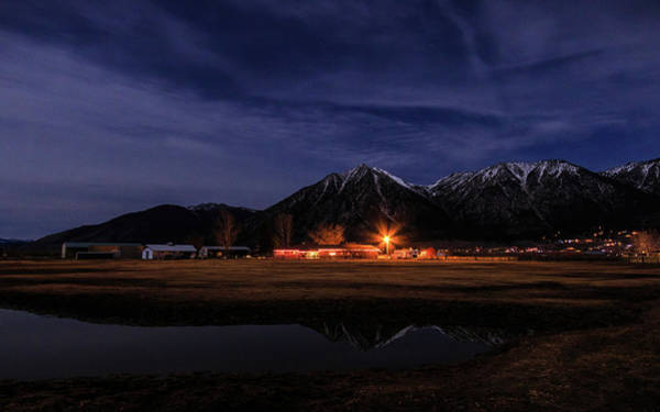 Wall Art - Photograph - Jobs Peak Moonglow On The Ranch by Mike Herron