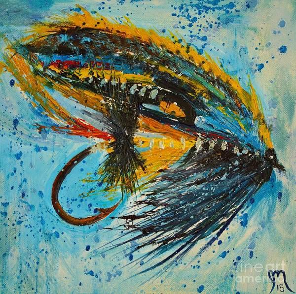 Angler Art Painting - Jock Scott Fly by Jodi Monahan