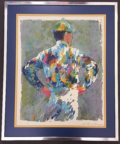 1972 Mixed Media - Jockey by Leroy Neiman