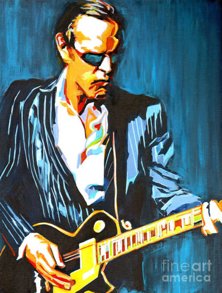 Painting - Joe Bonamassa. Hummingbird by Tanya Filichkin