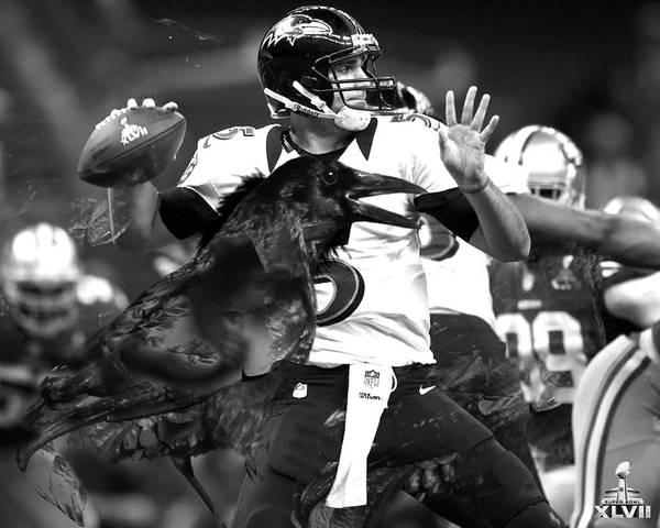 Aaron Rodgers Mixed Media - Joe Flacco, Baltimore Ravens, Superbowl Mvp by Thomas Pollart