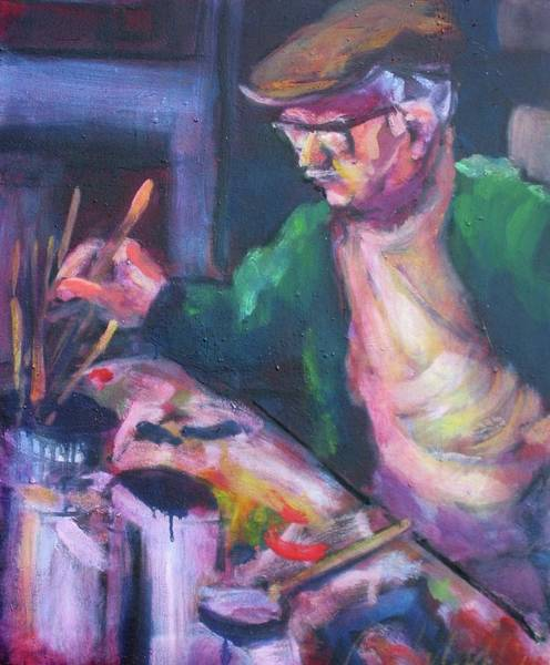 Painting - Joe Friebert by Les Leffingwell
