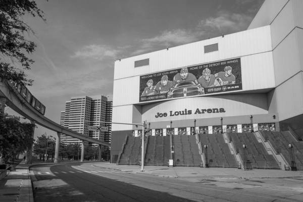 Joe Louis Arena Black And White  Art Print