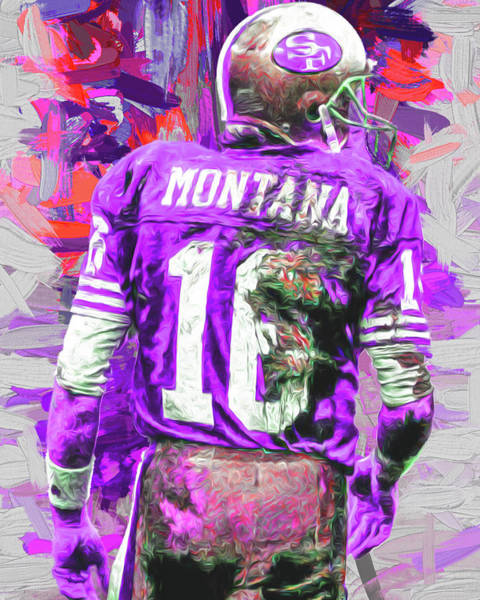 Wall Art - Photograph - Joe Montana 16 San Francisco 49ers Football by David Haskett II