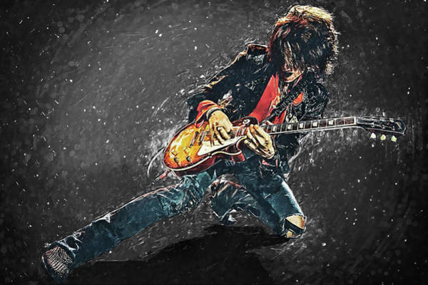 Glam Rock Digital Art - Joe Perry by Zapista Zapista