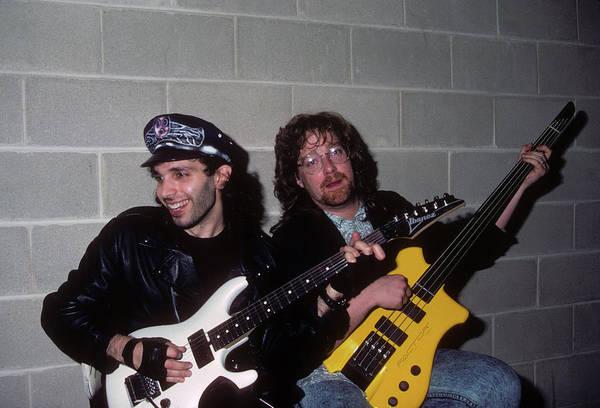 Photograph - Joe Satriani And Stu Hamm by Rich Fuscia