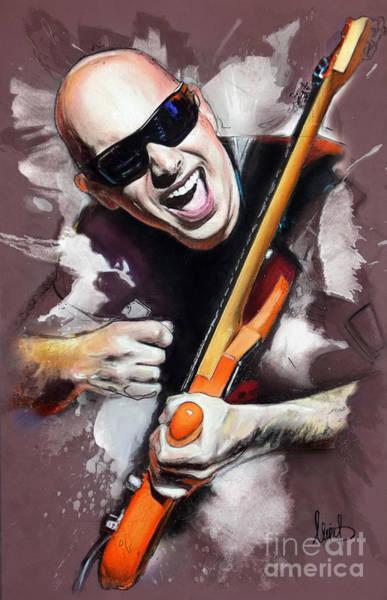 Alice Cooper Wall Art - Pastel - Joe Satriani by Melanie D