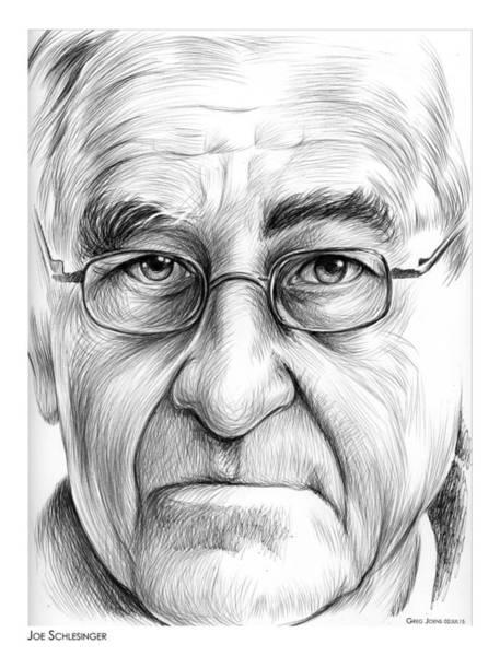 Pen Drawing - Joe Schlesinger by Greg Joens