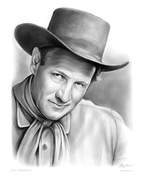 Professional Drawing - Joel Mccrea by Greg Joens