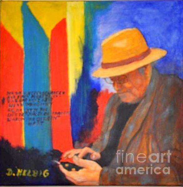 Painting - Joerg Stefflitsch-portrait by Dagmar Helbig