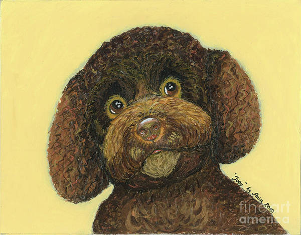 Joey Poodle Mix Art Print