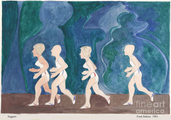 Jogging Painting - Joggers by Fred Jinkins