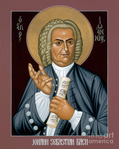 Painting - Johann Sebastian Bach - Rljsb by Br Robert Lentz OFM