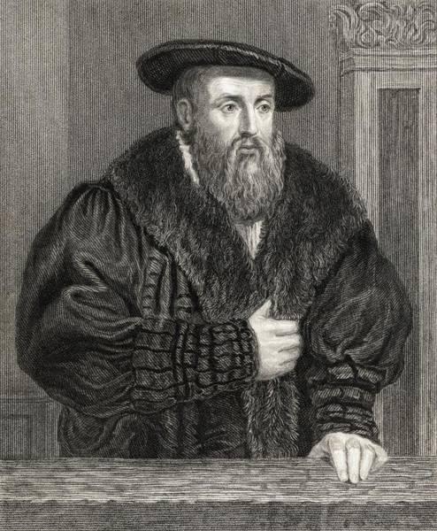 German Renaissance Drawing - Johannes Kepler 1571-1630. German by Vintage Design Pics
