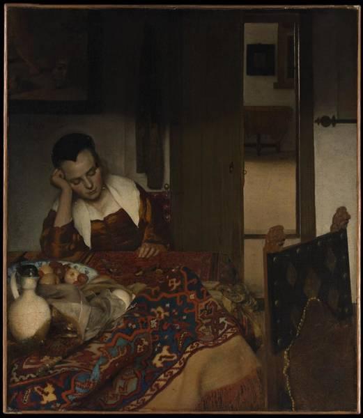 Postmark Painting - Johannes Vermeer  Dutch, Delft  by Johannes Vermeer