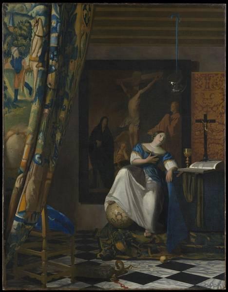 Postmark Painting - Johannes Vermeer Painting by Jiangbei Zhou