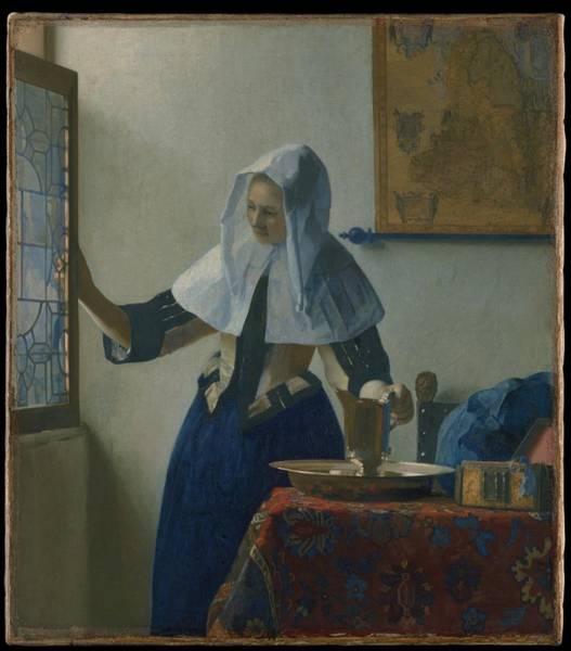 Postmark Painting - Johannes Vermeer Young_woman by Johannes Vermeer