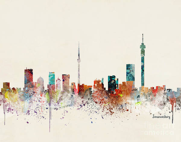 Wall Art - Painting - Johannesburg Skyline by Bri Buckley