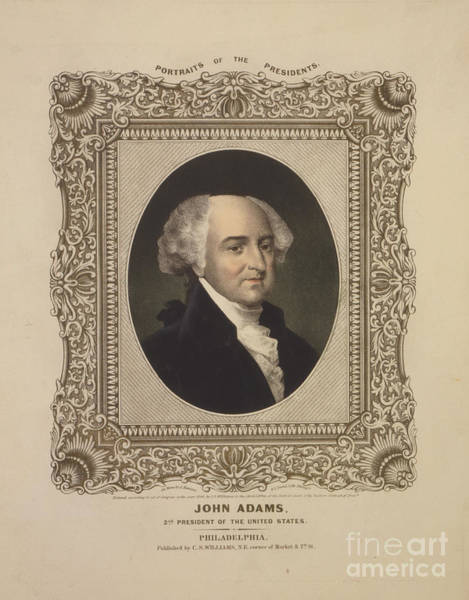 Painting - John Adams 2nd President Of The United States by Celestial Images