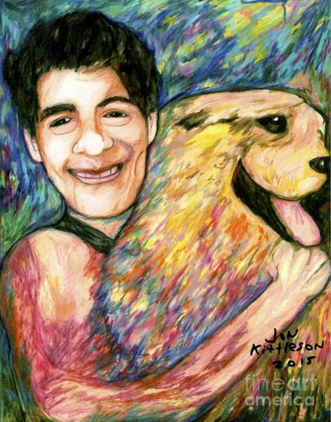 Drawing - John And Sammy by Jon Kittleson