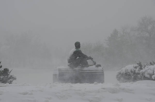 Wall Art - Photograph - John B Kelly - Rowing In The Snow by Bill Cannon