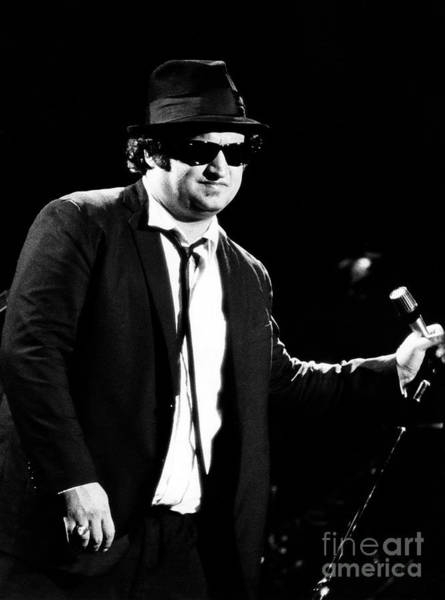 Chris Walter Wall Art - Photograph - John Belushi 1980 In Blues Brothers by Chris Walter
