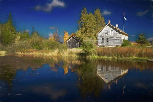 Adirondack Mountains Digital Art - John Brown Farm by Erwin Spinner