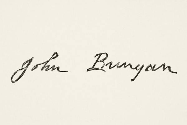 Wall Art - Drawing - John Bunyan 1628 To 1688. English by Vintage Design Pics