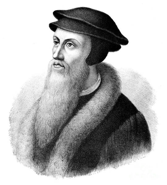 Male Figure Drawing - John Calvin by FC Wentzel