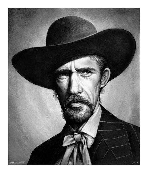 Famous Actor Wall Art - Drawing - John Carradine by Greg Joens
