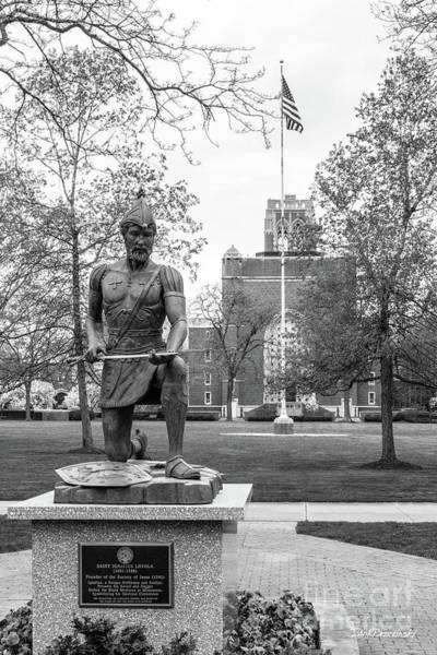 Photograph - John Carroll University Saint Loyola Statue by University Icons