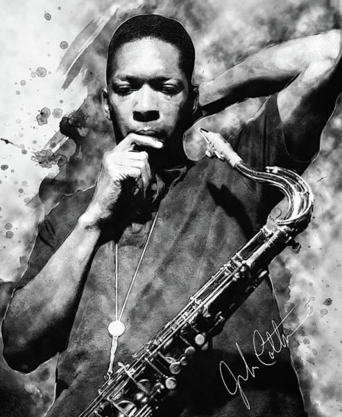 Digital Art - John Coltrane by Zapista Zapista