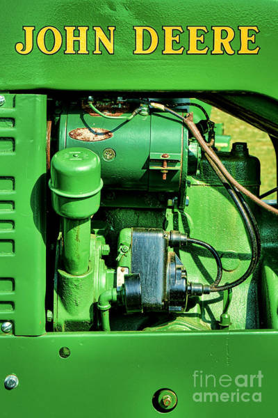 Wall Art - Photograph - John Deere Tractor Engine Detail by Olivier Le Queinec